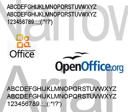 Desaparición de fuentes de letras en programas como OpenOffice